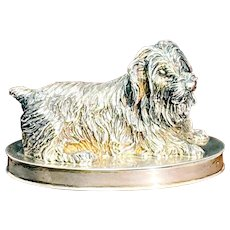 Sale! Sterling Silver Terrier Pill Box