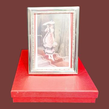 Sterling Silver Contemporary Fine Quality Picture Frame