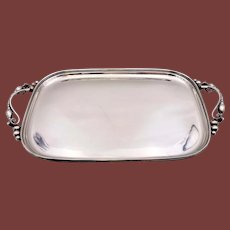 "La Paglia Sterling Silver 24"" Two-Handled Tray"