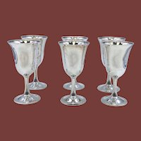 Wallace Sterling Silver Set of 6 Goblets #16