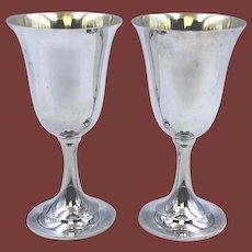 International Sterling Silver Pair of Goblets #P664