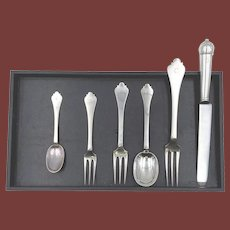 Janis Robinson Sterling Silver Tripid 30 Piece Place Setting