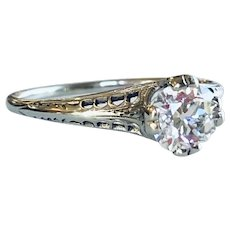 Elegant Art Deco Diamond Engagement Ring