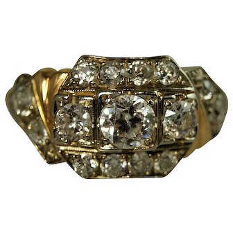 Mid Century Custom Diamond Ring