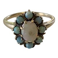 Victorian 10 Karat Gold and Opal Ring