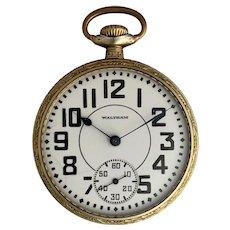 Waltham Crescent Street Railroad Grade Pocket Watch