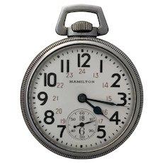 US Military Hamilton 992B Pocket Watch