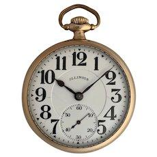 Illinois A Lincoln Railroad Grade Pocket Watch