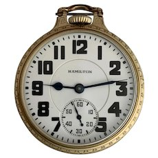 Hamilton 992 Elinvar Railroad Grade Pocket Watch