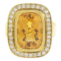 18 karat Diamond & Citrine Ring