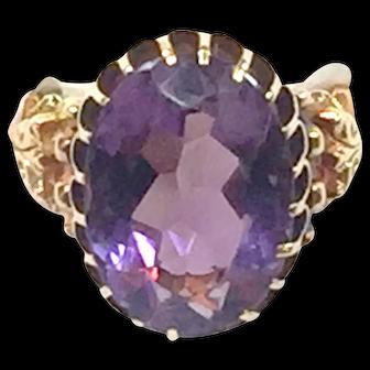18 karat gold Amethyst Ring