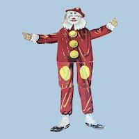 Clown Jumping Jack Paper Litho Cardboard