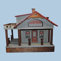 Large Mason & Parker Dollhouse with Side Porch and Turned Columns