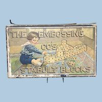 1915 The Embossing Co. Stabuilt Blocks Toy Construction