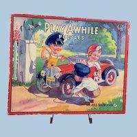 1932 Play Awhile All Fair Puzzles in Box