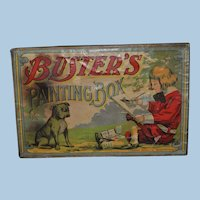 Buster's Painting Box Buster Brown and Tige Milton Bradley