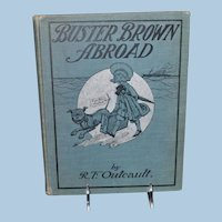 Antique Buster Brown Abroad Book R. F. Outcault  1904