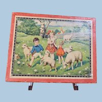 Children and Animals Paper Litho Picture Blocks