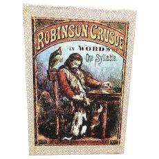 McLoughlin Bros Paper Litho Picture Blocks Robinson Crusoe