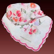 Vintage PIERRE BALMAIN Paris floral scarf