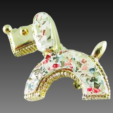 Confetti Lucite Dog Pin