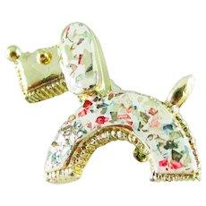 Confetti Lucite Dog Pin