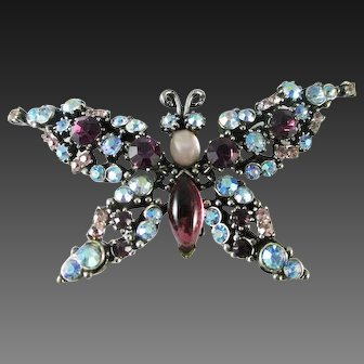 Florenza rhinestone trembler butterfly