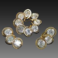 JUDY LEE Orbit  rhinestone pin and earrings set
