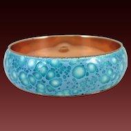 MATISSE wide copper bangle bracelet in blues