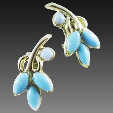 PELL pale blue thermoset earrings