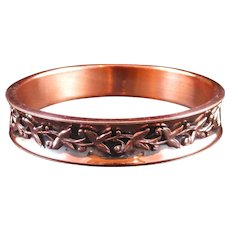 """RENOIR """"Elegance"""" Copper Leaf Bangle Bracelet"""