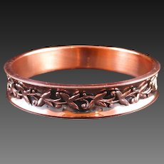 "RENOIR ""Elegance"" Copper Leaf Bangle Bracelet"
