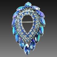 SARAH COVENTRY Blue Lagoon Brooch or Pin