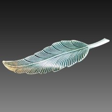 Sterling silver leaf pin