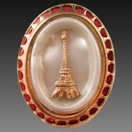 European enamel pearlized  Eiffel Tower Pin