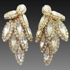 Long Rhinestone Drop Earrings