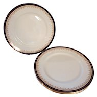 4 Aynsley Leighton Bone China Dinner Plates with Cobalt Border