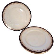 4 Aynsley Leighton Bone China Dinner Plates with Cobalt Border