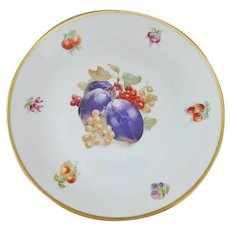 "Schumann Arzberg Bavaria Fruit Motif Round Charger Serving Plate, 11.75"""