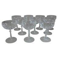 "10 Gorham Cut Crystal Tivoli Champagne Tall Sherbet Glasses, 5-1/8""H"