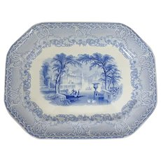 "Large 18"" Podmore Walker & Co Venus Staffordshire Ironstone Transferware Platter"
