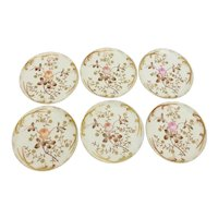 6 Charles Haviland Limoges Pierced and Embossed Plates with Roses