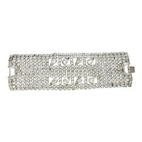 "Large 2"" Wide Crystal Rhinestone Bracelet"