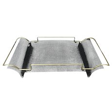 MCM Designer Folded Industrial Mesh Screen Handled Tray