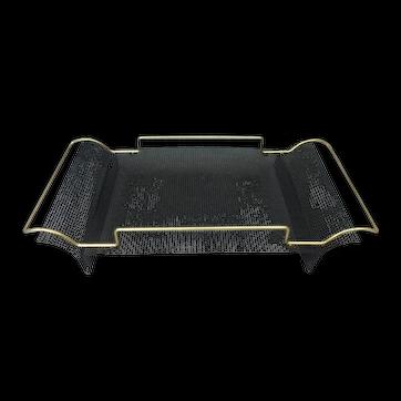 MCM Designer Folded Industrial Mesh Screen Handled Tray