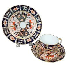 Royal Crown Derby Traditional Imari Plate, Cup and Saucer Trio, 2451