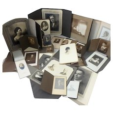 Lot 41 Antique Photographs  of Women & Men (only partially shown in 1st Photo)