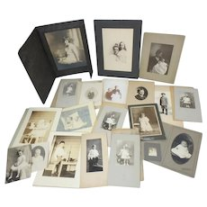 Lot of 32 Antique Photographs of Children, Infants, Toddlers (only partially shown in 1st photo)