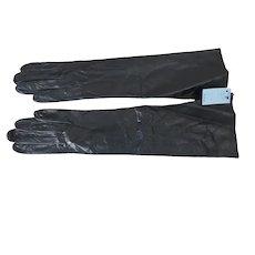 """Never Worn Black Van Raalte Kid Leather Gloves, Size 6-1/2, 14"""" Long"""