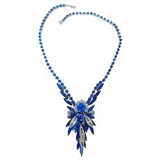 Juliana D&E Electric Blue Navette and Filigree Necklace